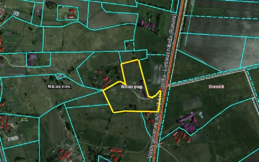Продаётся 2.26 га земли в Ницской волости. ID:320